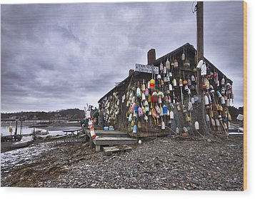 Cape Neddick Lobster Pound Wood Print by Eric Gendron