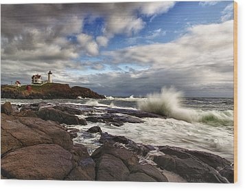 Cape Neddick Maine Wood Print by Rick Berk