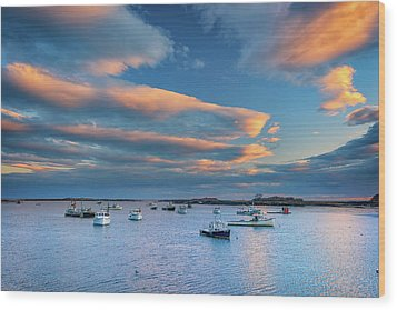 Wood Print featuring the photograph Cape Porpoise Harbor At Sunset by Rick Berk