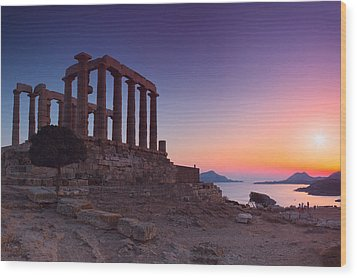Cape Sounion Wood Print by Emmanuel Panagiotakis