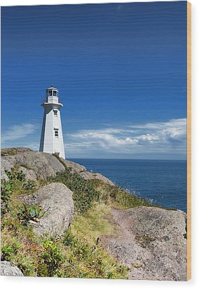 Cape Spear Lighthouse Vrt Wood Print