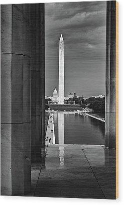 Capita And Washington Monument Wood Print
