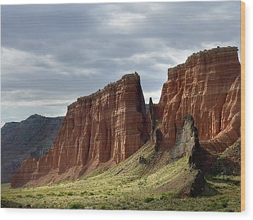 Capital Reef-cathedral Valley 9 Wood Print by Jeff Brunton