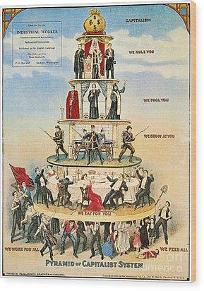 Capitalist Pyramid, 1911 Wood Print by Granger