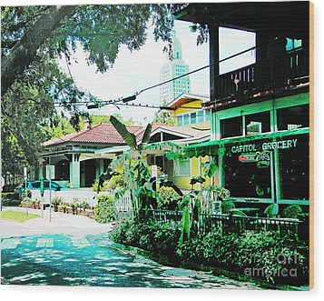 Capitol Grocery Spanish Town Baton Rouge Wood Print by Lizi Beard-Ward