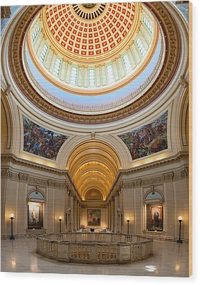 Capitol Interior II Wood Print by Ricky Barnard