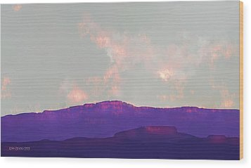 Wood Print featuring the digital art Capitol Reef by Kerry Beverly