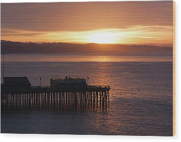 Wood Print featuring the photograph Capitola Day Begins by Lora Lee Chapman