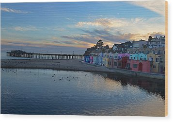 Capitola In October Wood Print