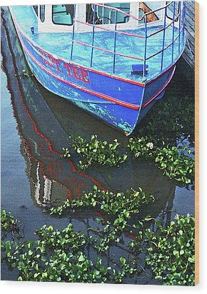 Cap'n Tee Henderson Swamp Wood Print by Lizi Beard-Ward