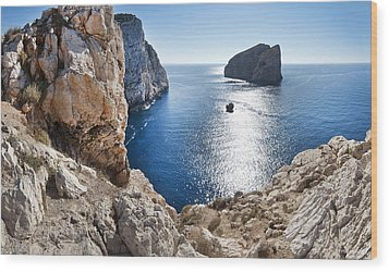 Capo Caccia Wood Print by Robert Lacy