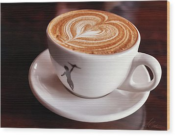 Wood Print featuring the photograph Cappuccino by Anthony Citro