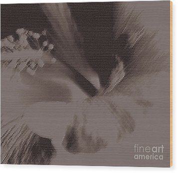 Cappuccino Wood Print by Linda Shafer
