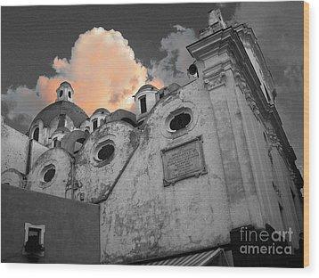 Capri Church Wood Print by Jim Wright