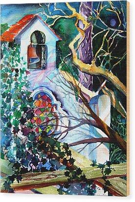 Capri Italy Chapel Wood Print by Mindy Newman