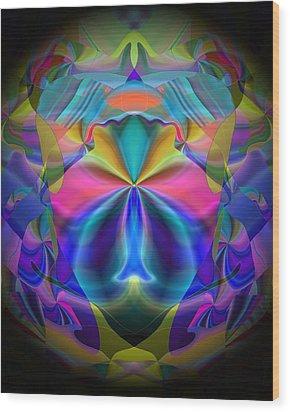Wood Print featuring the digital art Caprice by Lynda Lehmann