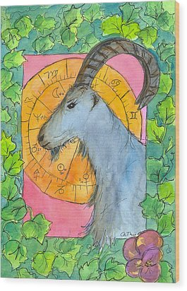 Wood Print featuring the painting Capricorn by Cathie Richardson