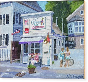 Capt. Dusty's Ice Cream Wood Print by Michael McDougall