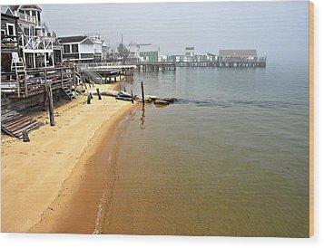Captain Jacks Wharf Provincetown Ma Wood Print