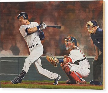 Captain - Jeter Wood Print
