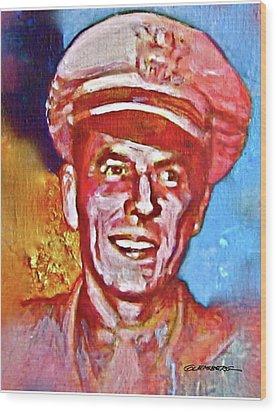 Captain Ronald Reagan Wood Print by Dean Gleisberg