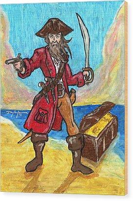 Captain's Treasure Wood Print by William Depaula