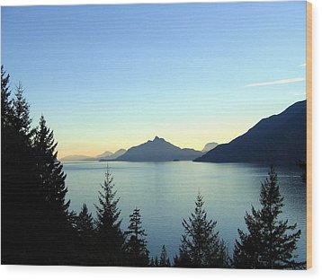 Captivating Howe Sound Wood Print by Will Borden