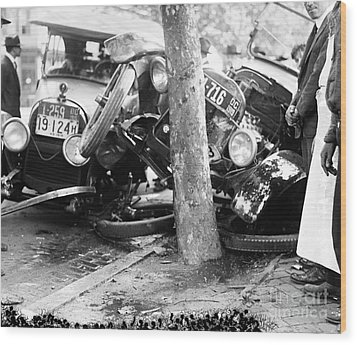 Car Accident, C1919 Wood Print by Granger