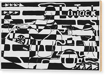 Car-jacking Maze For Lojack Advert Wood Print by Yonatan Frimer Maze Artist