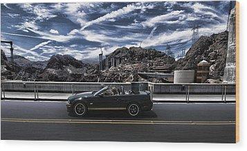 Car Wood Print by Marco Moscadelli