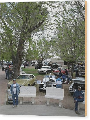 Wood Print featuring the photograph Car Show In Deming N M by Jack Pumphrey