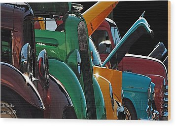 Car Show V Wood Print by Robert Meanor
