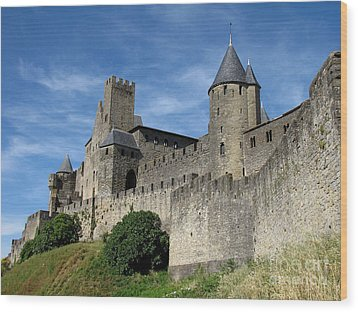 Wood Print featuring the photograph Carcassonne France by Jacqi Elmslie