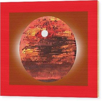 Cardboard Sunset Wood Print by Gabe Art Inc