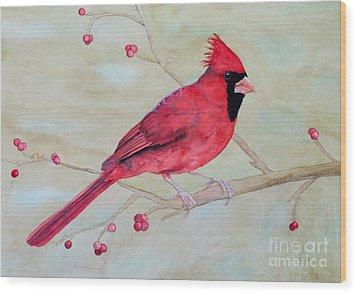 Cardinal II Wood Print by Laurel Best