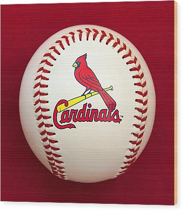 Cardinals Wood Print by Steve Stuller