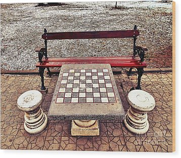 Care For A Game Of Chess? Wood Print