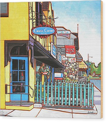 Caren's Corner Wood Print by Nadi Spencer