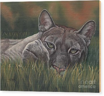 Wood Print featuring the pastel Carez...i Has None by Sheri Gordon