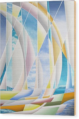 Wood Print featuring the painting Caribbean Afternoon by Douglas Pike