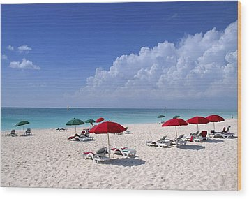 Caribbean Blue Wood Print by Stephen Anderson