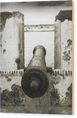 Caribbean Cannon Wood Print