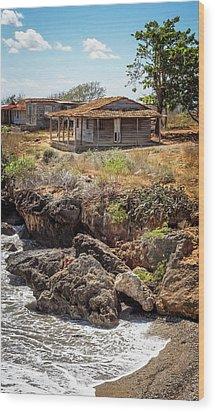 Wood Print featuring the photograph Caribbean Coastline Cuba by Joan Carroll