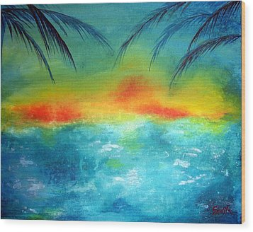 Caribbean Dreams Wood Print by Shasta Miller