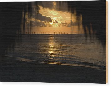 Caribbean Early Sunrise 5 Wood Print by Douglas Barnett