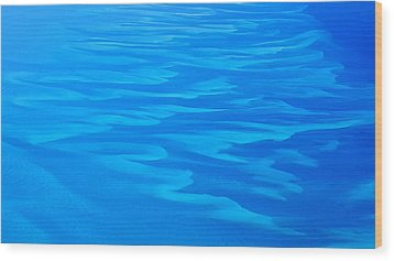 Wood Print featuring the photograph Caribbean Ocean Abstract by Jetson Nguyen