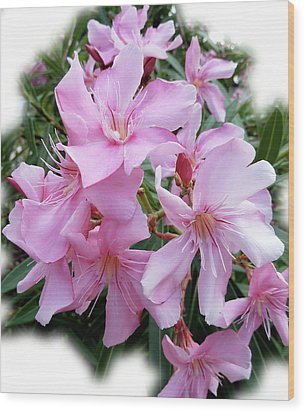 Wood Print featuring the photograph Caribbean Oleander by Marie Hicks