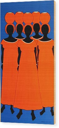 Wood Print featuring the painting Caribbean Orange by Stephanie Moore