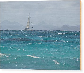 Wood Print featuring the photograph Caribbean Sailing by Margaret Bobb