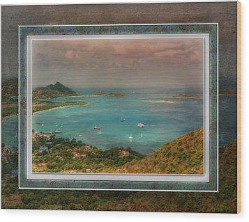 Wood Print featuring the digital art Caribbean Symphony by Hanny Heim